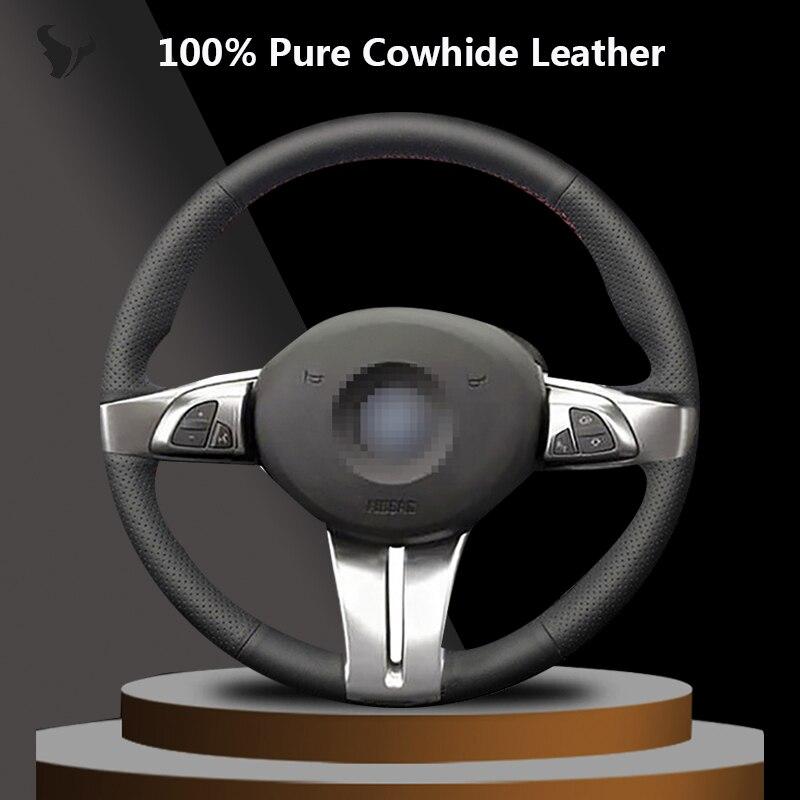 Ручная работа черная крышка рулевого колеса из натуральной кожи для BMW Z4 E85 (Roadster) 2003 20042008 E86 (Coupe) 2005 2006 2007 2008