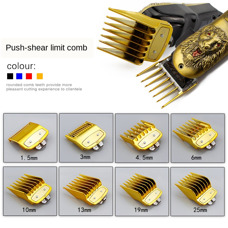 8pcs Professional Cutting Guide Comb For Wahl With Metal Hair Clipper Caliper Accessories G0115