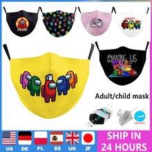 Transpirable entre gracioso máscara impresa protectora máscara facial y para la boca amortiguar los niños adultos PM2.5 máscaras de tela lavable reutilizable máscara