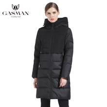 GASMAN 2019 Brand Women Winter Jacket And Coat Slim Long Female Thick Down Parka Hooded Women's Coat Bio Down Jacket Women 1826(China)