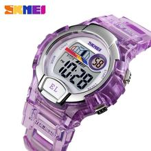 Вахта SKMEI спортивные дети часы водонепроницаемый будильник секундомер время из светодиодов цифровой студент часы девочки подарки