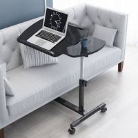Mobile bedside table laptop table lazy lift simple folding table| |   -