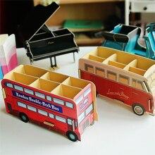 5PCS Cartoon car shape pen holder Home Table Decor Storage Box Organizer remote control Piano Sundries