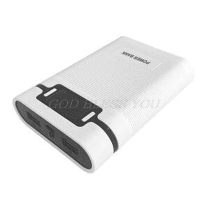Image 3 - Dual USB Màn LCD Chống Đảo Ngược Di Động Công Suất Ngân Hàng 4 Hộp X 18650 Tự Làm Hiển Thị Pin Sạc 5V 2A powerbank Case Với Đèn LED