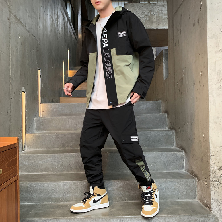 Coat Men's Spring And Autumn Tooling Jacket Autumn Korean-style Trend Leisure Sports Suit Loose-Fit Men Popular Brand On Clothes