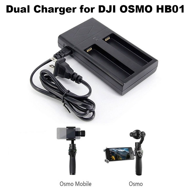 Gimbal Battery Charger Fast Charging for OSMO Mobile HB01 Battery Handheld Gimbal Camera Stabilizer 2 in 1 Charging Hub