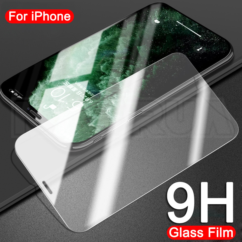 0.22mm 9H Tempered Glass For iPhone 8 7 6 6S Plus 5 5S SE 2020 Screen Protector For iPhone 11 Pro XS Max X XR Protective Flim