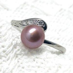 Кольца с пресноводным жемчугом женские, серебристые кольца с регулируемым натуральным камнем, подарок на день рождения вечерние Вечерний Подарок для девочек