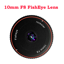Rock Star Rock Star 10mm F8 Fish Eye Lens messa a fuoco fissa Micro Ultra grandangolare per Sony E Fuji X FX M4/3 Nikon Z Canon Eos M Mount