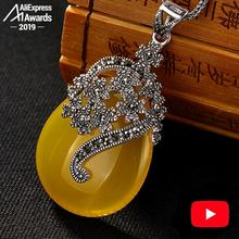 Não falso s925 prata esterlina israel âmbar design exclusivo artesanal baltic pingentes saúde rica lituânia calcedônia amarelo