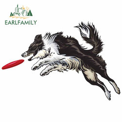 EARLFAMILY 13cm For Border Collie Car Stickers Windshield Decal Waterproof Vinyl Material Personality For JDM SUV RV