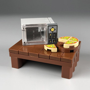 City Kitchen Building Block Pizza Waffle Microwave Dining Table Party MOC Accessories Brick DIY Kit Kids Toys Gift(China)