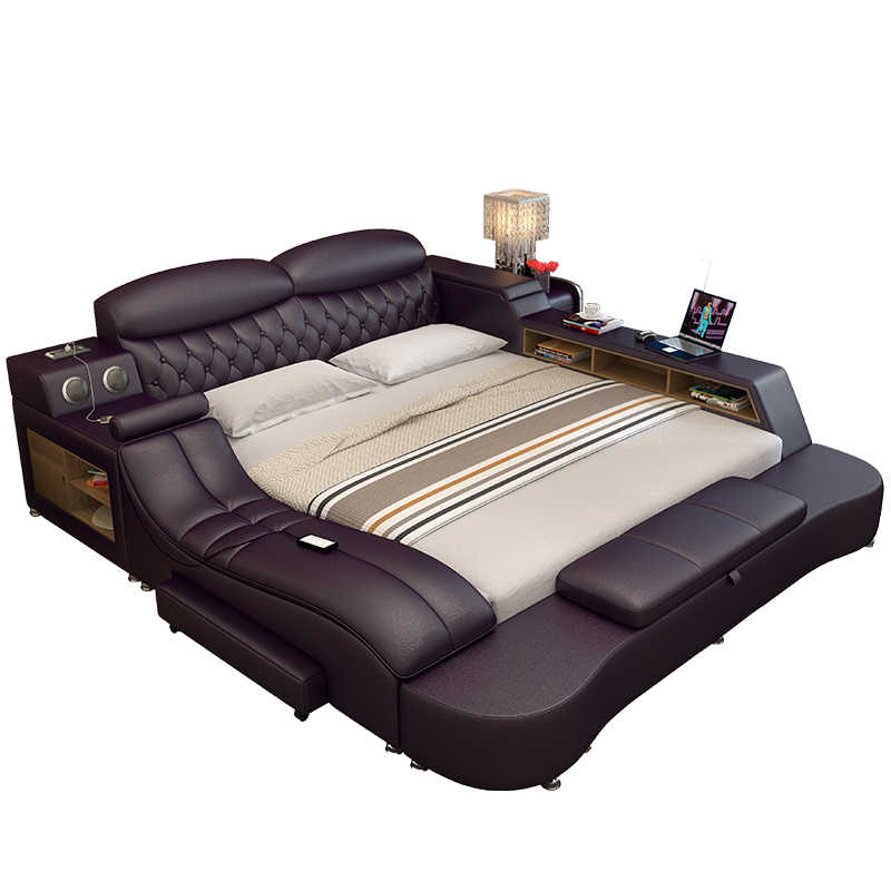 Bedroom Furniture Soft Bed With Massager Queen King Bed Frame With Storage Aliexpress