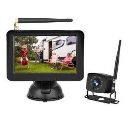 5 Cal cyfrowy bezprzewodowy kolorowy wyświetlacz lcd Monitor tylna kamera samochodowa z 170 stopni szeroki kąt Night Vision funkcja dla samochodów SUV Van w Kamery pojazdowe od Samochody i motocykle na