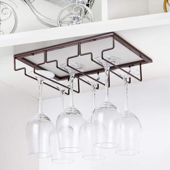 space saving under cabinet wine rack