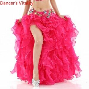 Image 5 - ¡Gran oferta! Vestido de danza del vientre senior yarn, disfraces sexis para mujeres, falda de escenario de baile shasha Latina para mujeres, faldas divididas para danza del vientre