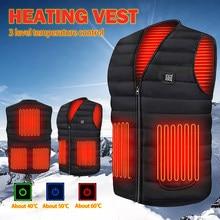 Gilets chauffants électriques hommes en plein air USB gilet de chauffage infrarouge hiver vêtements thermiques électriques en plein air pêche Camping randonnée gilets