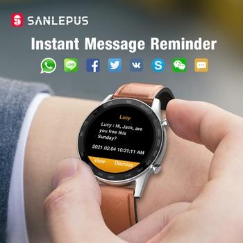 2021 SANLEPUS ECG Smart Watch Dial Call Smartwatch Men Sport Fitness Bracelet Clock Watches For Android Apple Xiaomi 3