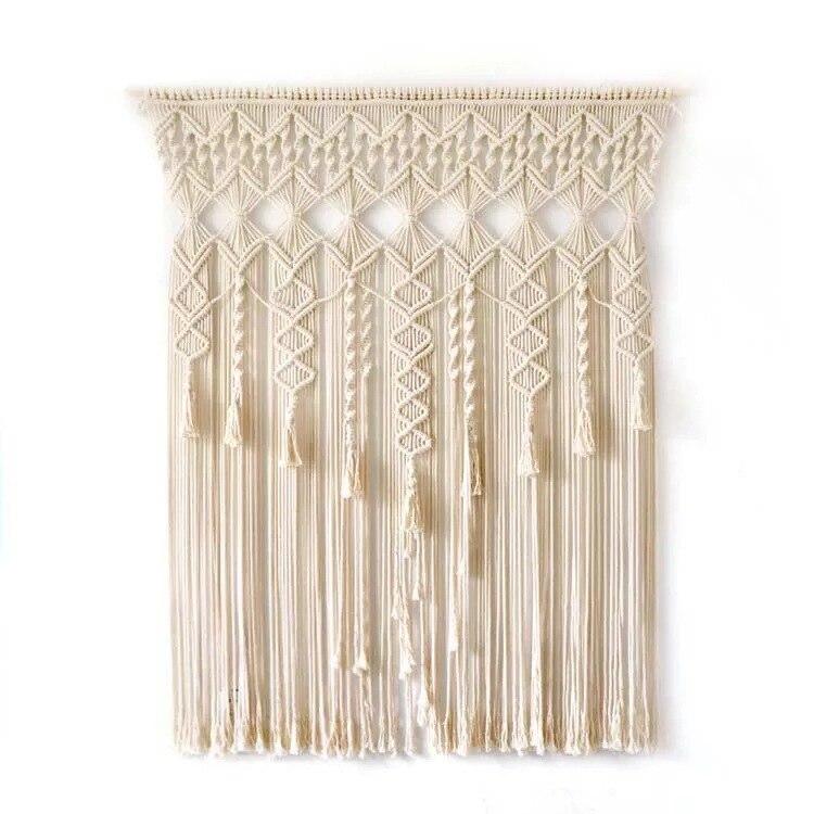 100% coton bohème tapisserie tissé à la main mur tapisserie rideau en plein air mariage décoration maison séjour hôtel tenture décor - 3