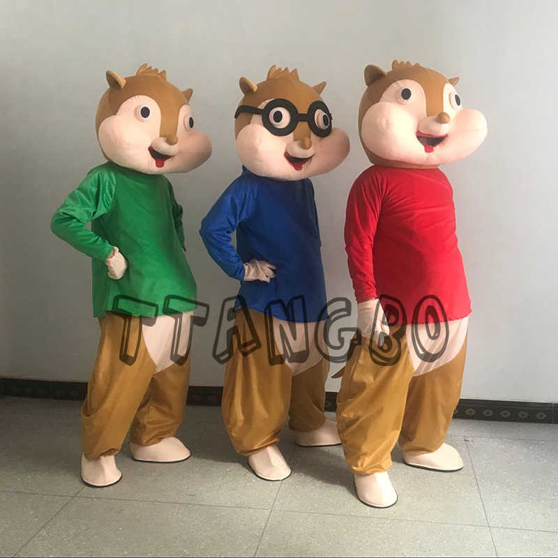 Sale Alvin And The Chipmunk Characters Cartoon Mascot Costume Anime Cosplay Christmas Halloween Birthday Party Free Delivery Aliexpress