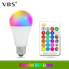 E27 LED 16 Color Changing RGB + White Magic Light Bulb Lamp AC85-265V RGB Led Light Spotlight 5W 10W 15W + IR Remote Control e27 e14 led 16 color changing rgb magic light bulb lamp 85 265v 110v 120v 220v rgb led light spotlight ir remote control 3w 5w