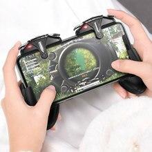 Мобильный контроллер PUBG, джойстик, 30 выстрелов в секунду, игровой триггер L1R1, кнопка Aim Fire для PUBG Phone, игровой коврик