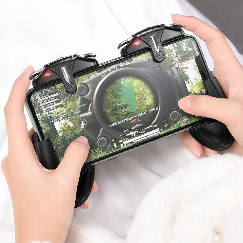 PUBG Mobile Controller Gamepad Joystick 30 Shots Per Second Gaming Trigger L1R1 Aim Fire Button For PUBG Phone Game Pad