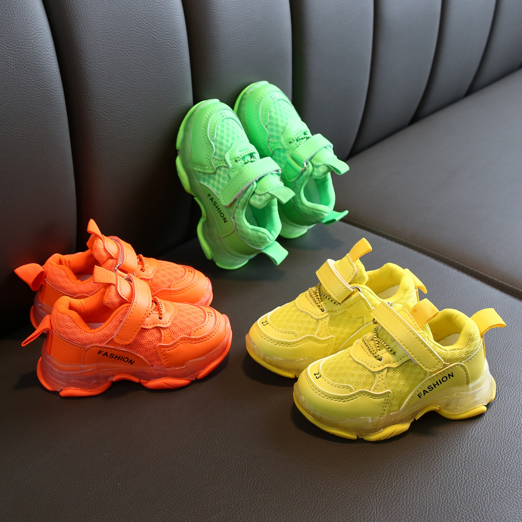 Spring Autumn Children Casual Shoes Kids Girls Boys Sport Shoes Candy Colors Infant Kids Baby Mesh Running Sneakers Kids Shoes