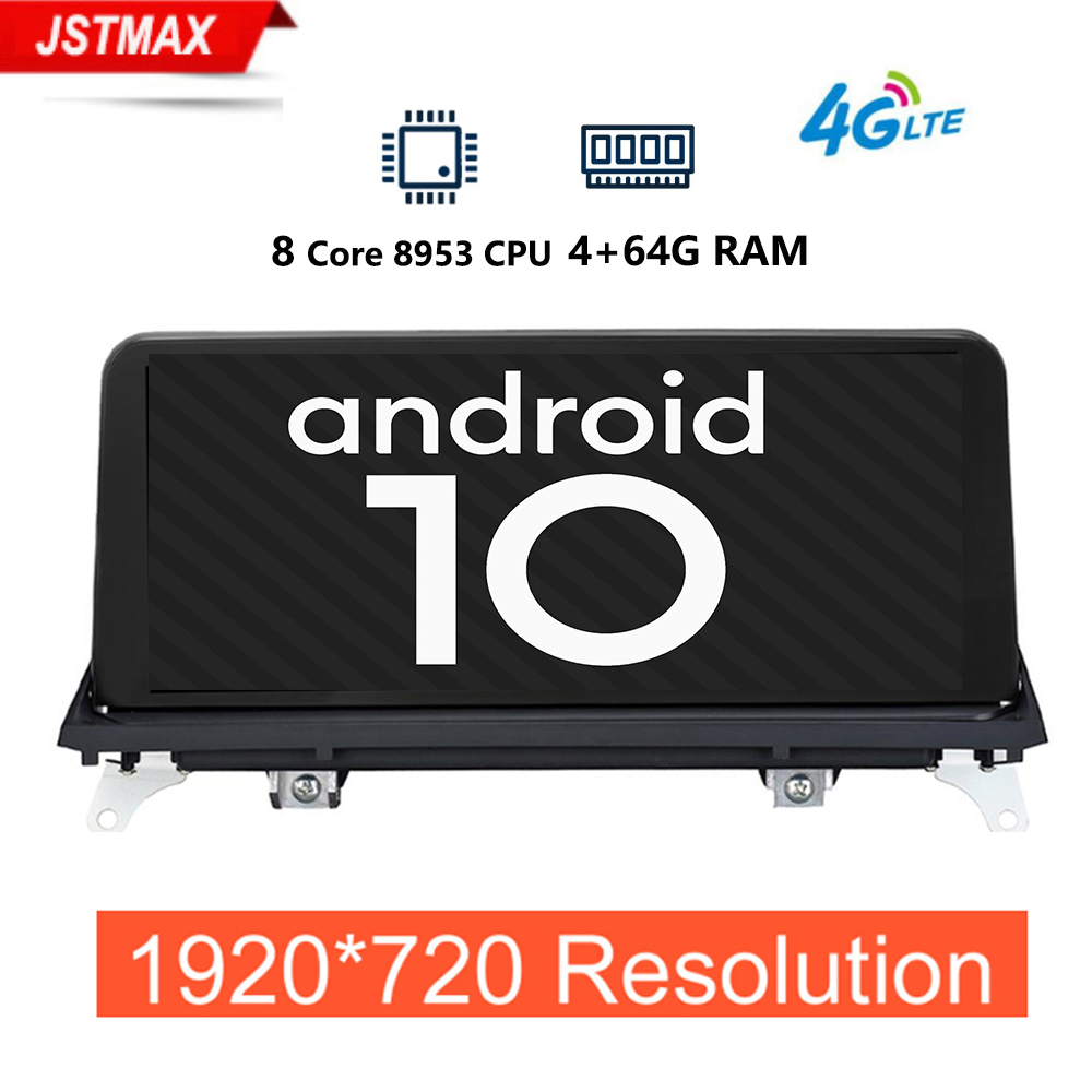 "1920*720P 10.25"" Android 10.0 System 4+64G Car Multimeida Stereo For BMW X5 E70 X6 E71 2007-2013 GPS Navi Bluetooth WIFI 4G LTE"