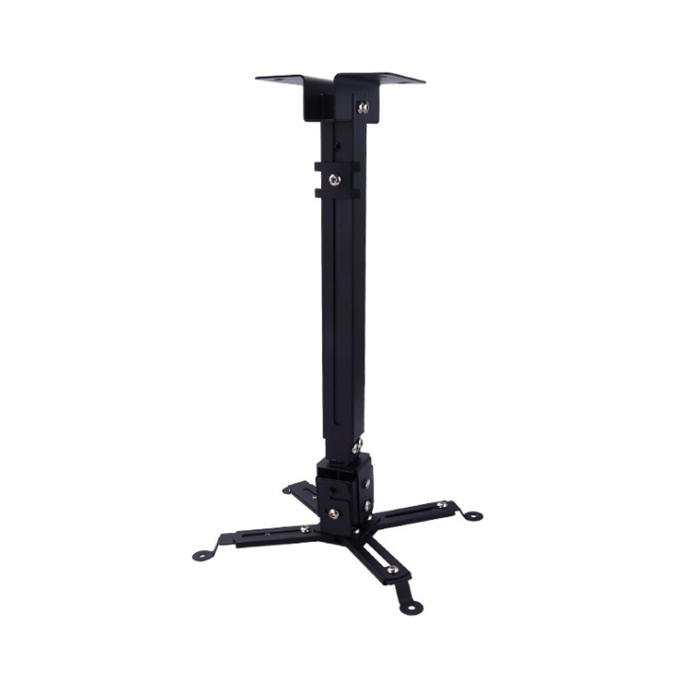 Ceiling Bracket Wall Mounted Adjustable Retractable Hanging Swivel Stand Loading Universal Extending Projector Mount Black