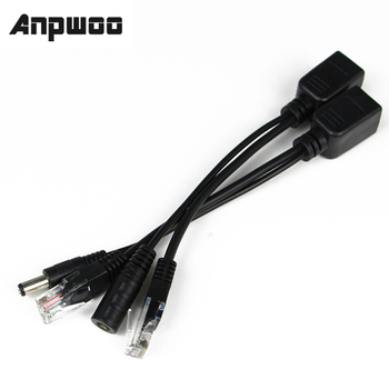 ANPWOO Hot POE Cable Passive Power Over Ethernet Adapter Splitter Injector Supply Module 12-48v For IP Camera - discount item  5% OFF Transmission & Cables