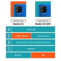"Global Version Xiaomi Redmi 9C 9 C 2GB 32GB / 3GB 64GB Smartphone Helio G35 Octa Core 6.53"" Display 13MP Rear Cameras 5000mAh 2"