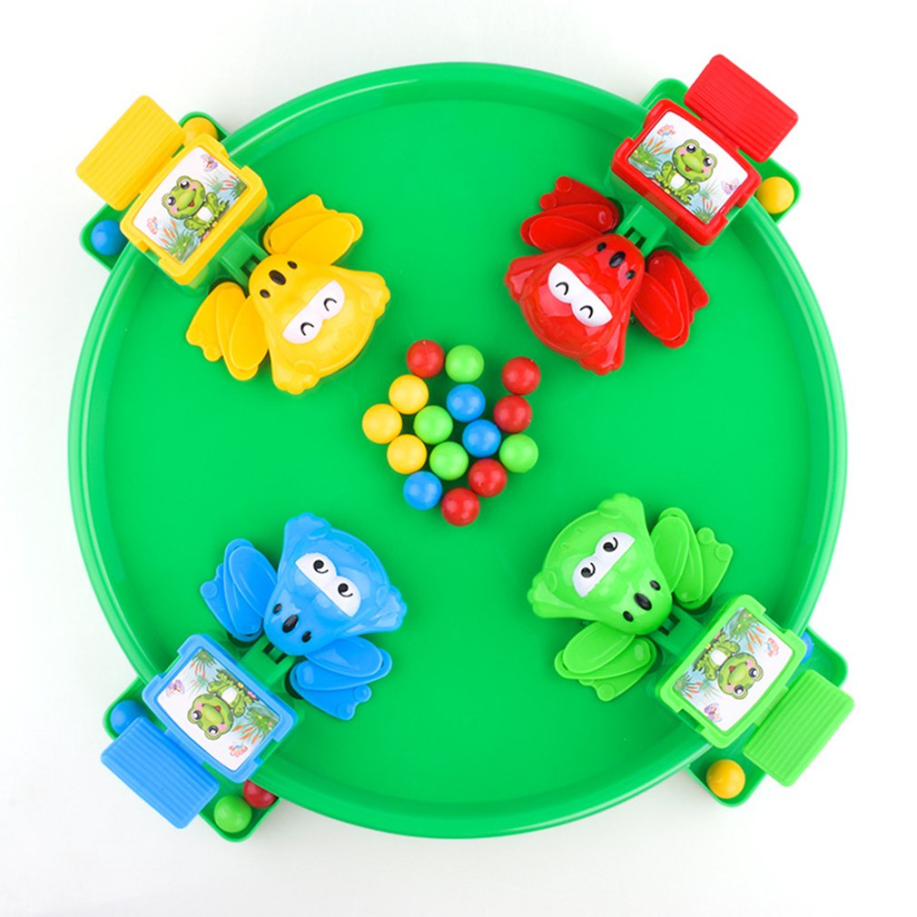Funny Hungry Frogs Educational Toy Creative Desktop Toy Interactive Game Beads Feeding Toy Child Gift  Puzzle Toys For Children