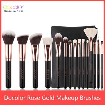 Docolor Classic Makeup Brushes Set Professional Natural Hair Make up brush with bag Eye Shadow Foundation Powder brush 1