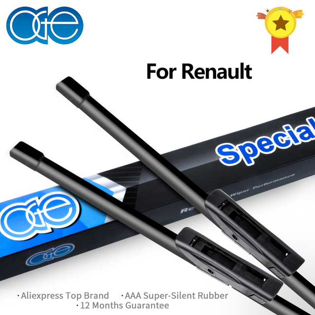 Oge Wiper Blades For Renault Megane / Scenic / Fluence / Laguna / Clio / Captur High Quality Rubber Windscreen Car Accessories
