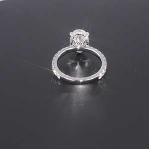 Image 3 - Starszuan תכשיט 14K DEF סגלגל לחתוך 8*10mm 3ct moissanite מבחן חיובי VVS מפואר אירוסין טבעת עבור אישה