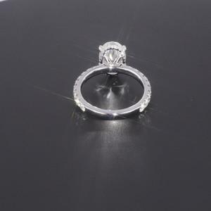 Image 3 - Starszuan Gioiello 14K DEF taglio ovale 8*10 millimetri 3ct moissanite test positivo VVS fantasia anello di fidanzamento per donna