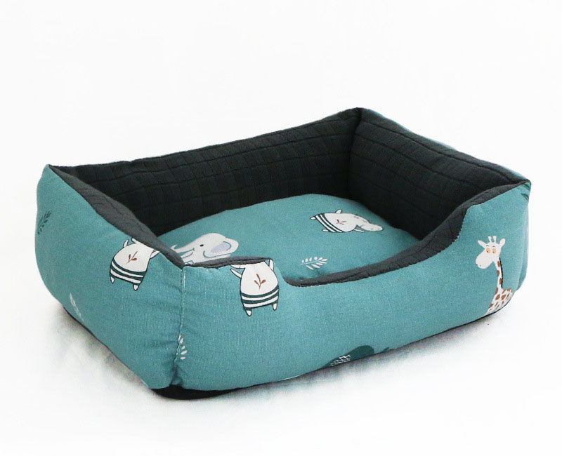 Pet Cat Dog Bed Warm Cozy Dog House Soft Nest Dog Baskets House Mat Autumn Winter Waterproof Kennel Removable Dog Bed 9