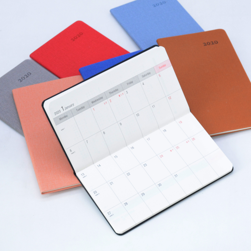 Effectiveness Agenda 2020 Carry Notebook A6 Bullet Journal Solid Color Planner Sketchbook Caderno Libreta Weekly Diary