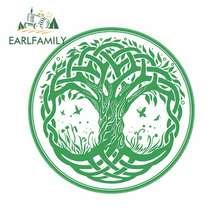 EARLFAMILY – autocollants de voiture, 13cm x 13cm, pour symboles celtiques, mythologie, anti-rayures, Occlusion, graphiques pour pare-choc de fenêtre