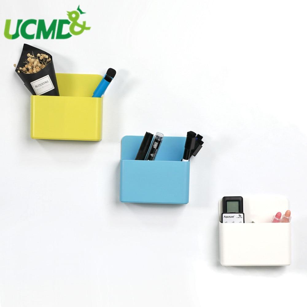 Fridge Magnet Plastic Storage Organizer Box Magnetic Whiteboard Markers Pencil Pen Chalk Bins Organizer Box Kitchen Home Office