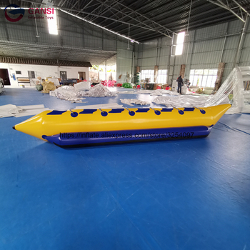 inflatable flying fish water sports equipment for 6 players flying fish towable inflatable flying banana boat tube Free Shipping Customized Size Inflatable Flying Fish Tube Towable Water Floating Inflatable Banana Boat With Air Pump