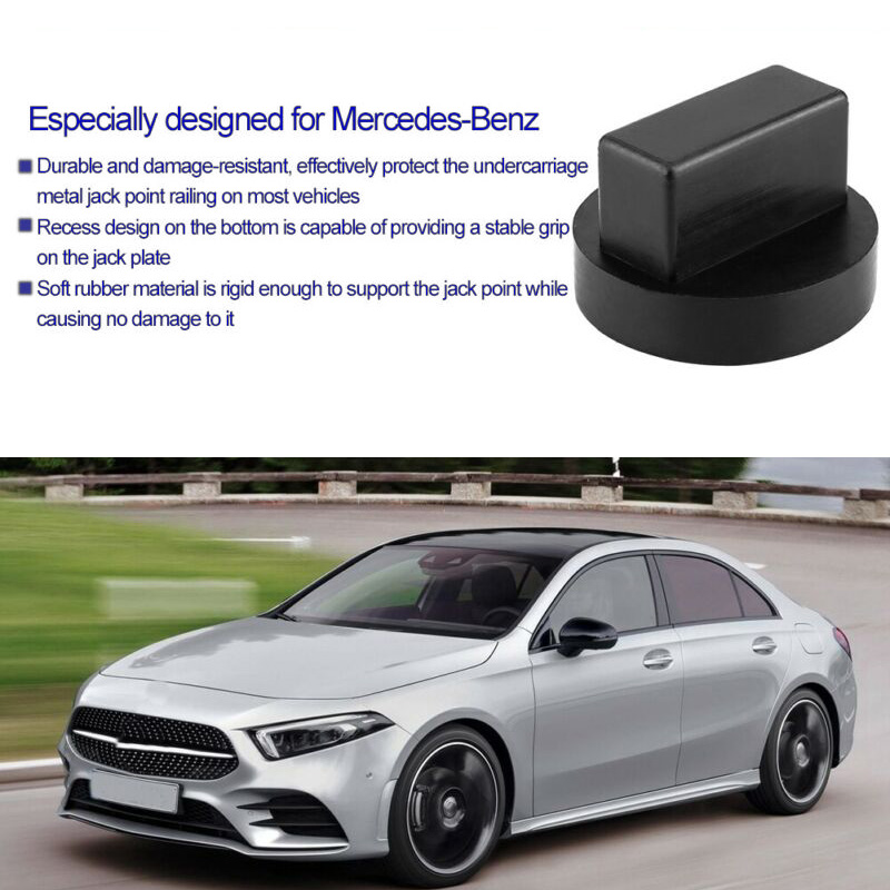 Black Automobile Enhanced Support Rubber Pad Frame Rail Floor Jack Adapter High Quality For Mercedes-Benz