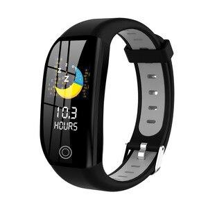 Image 2 - Pulseira inteligente bluetooth relógio de fitness rastreador sono freqüência cardíaca monitoramento de pressão arterial lembrete informações inteligente pulseira