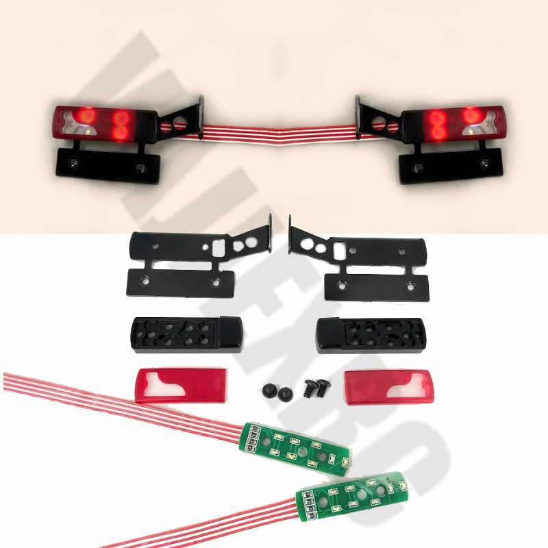 Metal Tail Light LED Lamp Bar for 1//14 Tamiya Scania R620 1851 56352 Man RC Car
