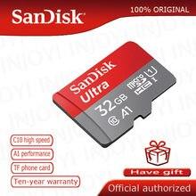 Sandisk cartões de memória ultra 128gb 64gb 16gb 200gb, em cartão micro sd 32gb classe 10 80 mb/s UHS-I microsdxc sdhc 100% original