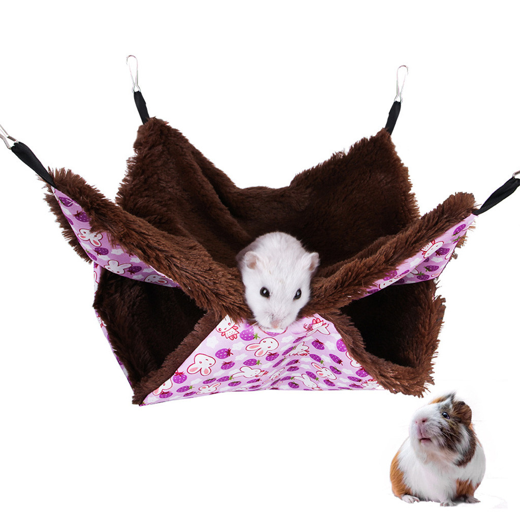 Pets Hanging House Cage Sleeping Nest Pet Bed Rat Hamster Guinea Pig Rabbit Toys Cage Swing Pet Small Animals supplies J50