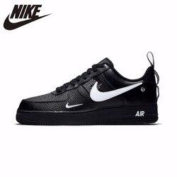 Nike Air Force 1 оригинальная кожаная мужская обувь для скейтбординга, удобные спортивные кроссовки на открытом воздухе # AJ7747