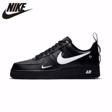 Nike Air Force 1 Original Leather Men's Skateboarding Shoes Comfortable Outdoor