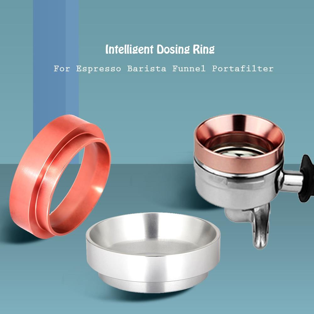 51/54/58mm Portafilter Dosing Funnel Espresso Coffee Dosage Ring Aluminum Breville Delonghi Krups Coffee Tampering Tool